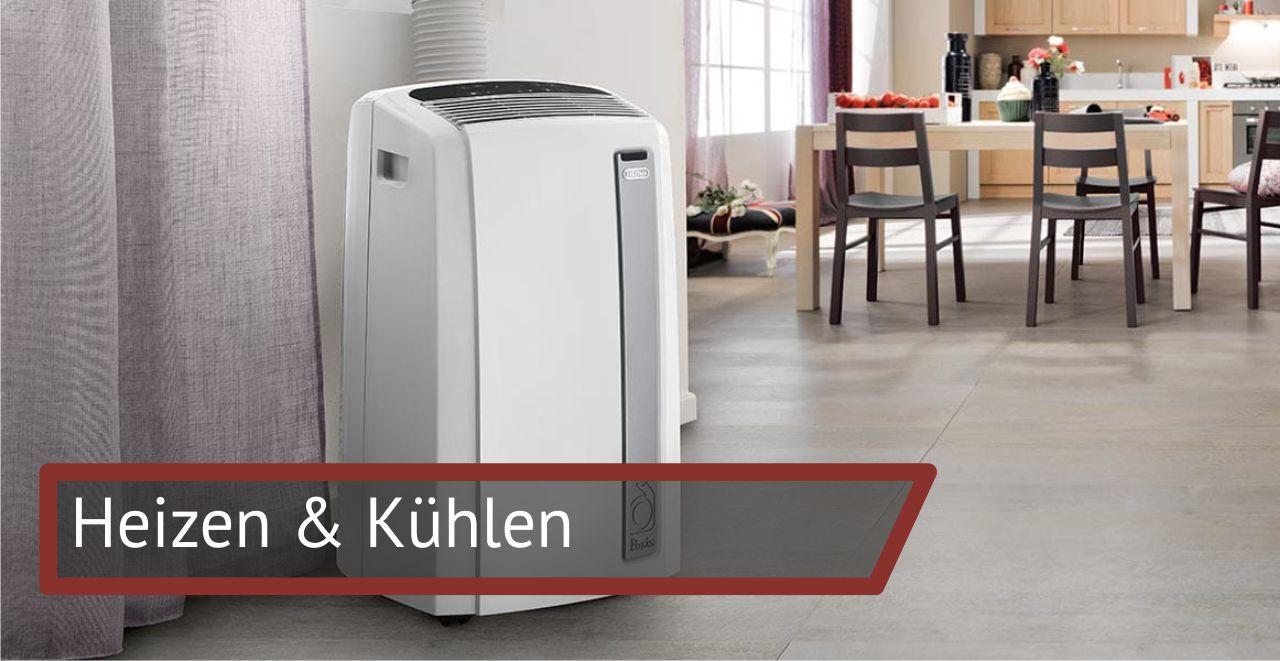 Heizen & Kühlen: Heizlüfter  Klimageräte  Luftbefeuchter / Entfeuchter  Lufthygiene  Radiatoren  Ventilatoren  Zubehör