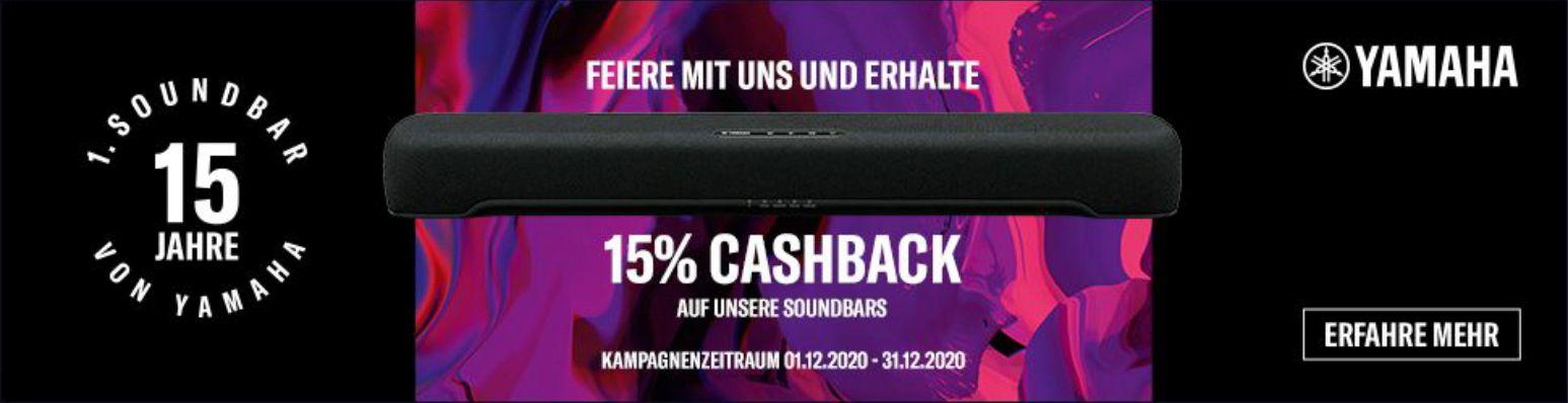 15 Jahre Yamaha Soundbars Cashback Aktion