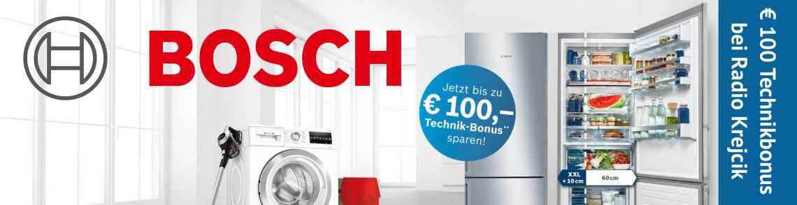 Bosch Technik-Bonus Cash Back-Aktion