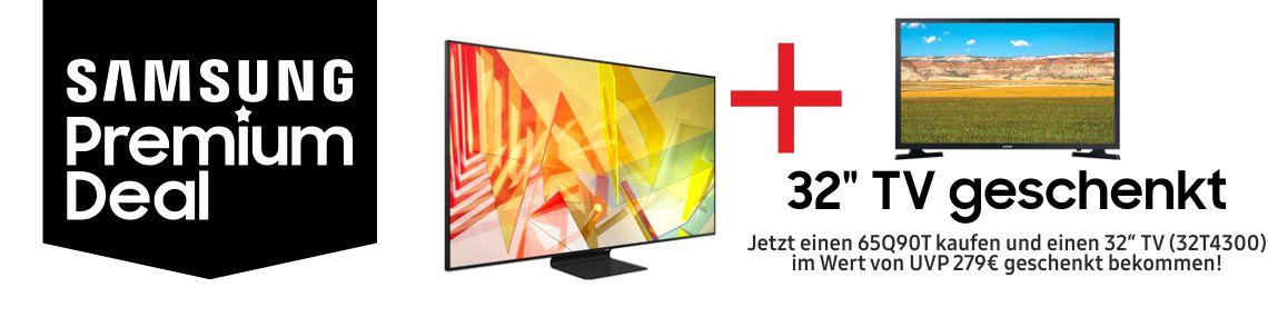 """Jetzt einen 65Q90T kaufen und einen 32"""" TV (32T4300) im Wert von UVP 279€ geschenkt bekommen!"""