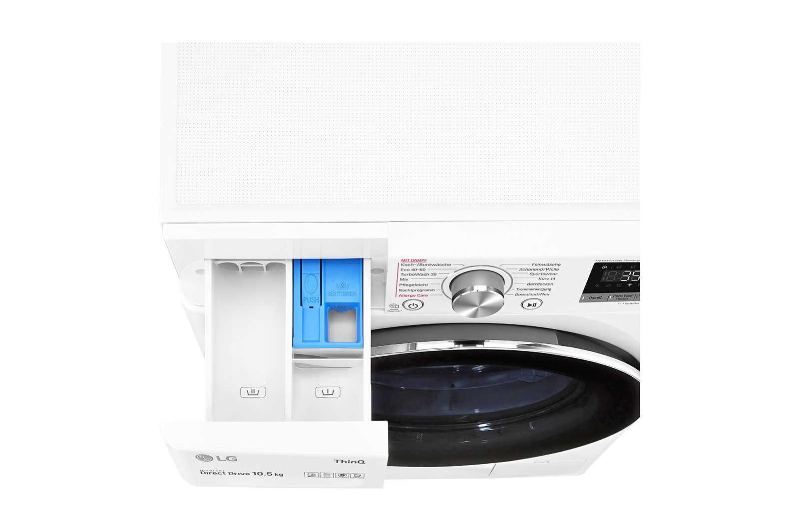 LG F6W105A   Waschmaschine   10,5kg   Energieeffizienzklasse* A   AI DD™   Steam   TurboWash™ 360°