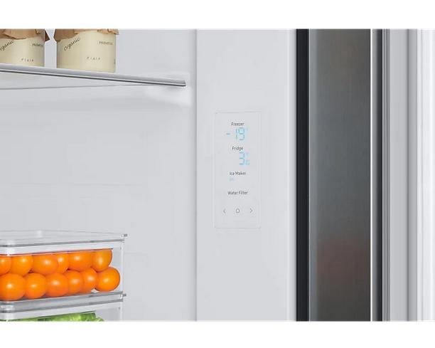 SAMSUNG RS68A8832S9/EF | Side-by-Side mit Hoher Energieeffizienz A+++ | 178cm 609l Inox
