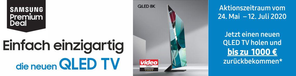 Samsung Premium Deal: Jetzt einen 2020 Samsung QLED TV kaufen und bis zu 1.000€* zurückbekommen!