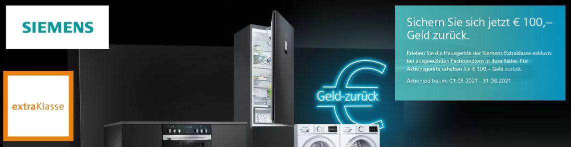 Siemens Extra-Klasse 100€ Cashback