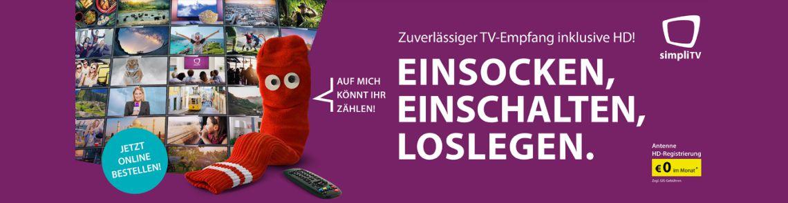 simpliTV Zuverlaessiger TV-Empfang