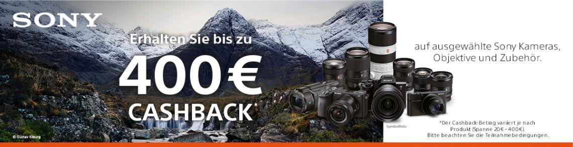 Sony Foto Winter Cashback Promotion vom 15. Oktober 2020 bis 31. Januar 2021