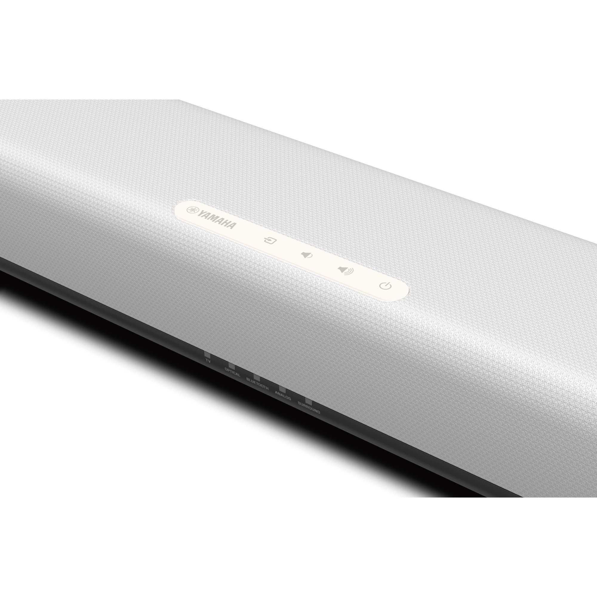 YAMAHA SR-C20A weiß | Kompakte Soundbar mit integriertem Subwoofer, Bluetooth und Clear Voice