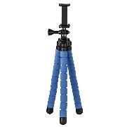 """HAMA 4615 Stativ """"Flex"""" für Smartphone und GoPro, 26 cm, Blau"""