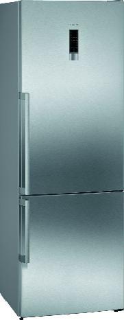SIEMENS KG49NEIDP | iQ300 Freistehende Kühl-Gefrier-Kombination mit Gefrierbereich unten 203 x 70 cm Edelstahl antiFingerprint | Extraklasse | Energieeffizienzklasse A+++