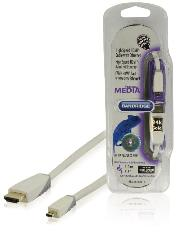 BANDRIDGE High Speed HDMI Kabel mit Ethernet HDMI Anschluss - HDMI Micro Stecker 1.00 m Weiss