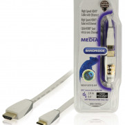 BANDRIDGE High Speed HDMI Kabel mit Ethernet HDMI Anschluss - HDMI Mini Stecker 2.00 m Weiss