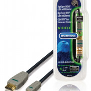 BANDRIDGE High Speed HDMI Kabel mit Ethernet HDMI Anschluss - HDMI Micro Stecker 2.00 m Blau