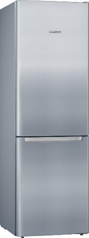 CONSTRUCTA CK536ELEA   Freistehende Kühl-Gefrier-Kombination mit Gefrierbereich unten 186 x 60 cm Edelstahl-Optik