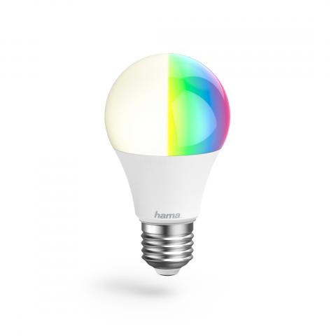 HAMA 176547 WiFi-LED-Lampe, E27, 10W, RGB, dimmbar