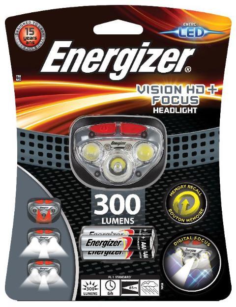 ENERGIZER Kopflampe LED Schwarz