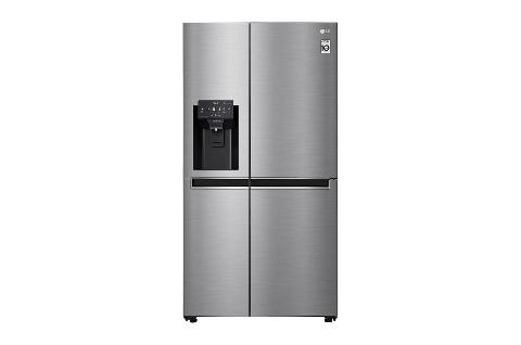 LG GSJ761PZZE | Side-by-Side mit mit Eis-, Crushed Ice- und Wasserspender | Total No Frost | Kein Festwasseranschluss | 601 L Kapazität