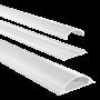 HAMA PVC-Kabelkanal, halbrund, 100/7/2,1 cm, Weiß